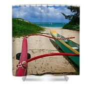 Outrigger Beach Shower Curtain