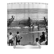 Outrigger Canoe Championship Shower Curtain