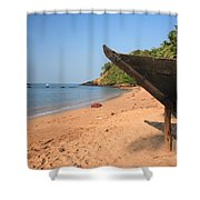 Outrigger On Cola Beach Shower Curtain