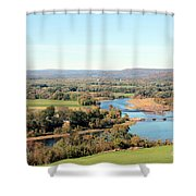 Outside City Limits Shower Curtain
