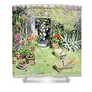 Outside Looking In, 1991 Wc On Paper Shower Curtain