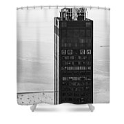 Outside Looking In - Willis Tower Chicago Shower Curtain