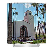 Outside Los Angeles Union Station Shower Curtain