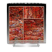 Outside The Box - Abstract Art Shower Curtain