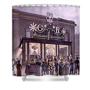 Outside The Theatre Royal, Drury Lane Shower Curtain