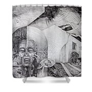 Outskirts Of Necropolis Shower Curtain