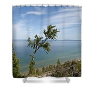 Over Lake Michigan Shower Curtain