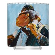 Over Our Shoulders					 Shower Curtain