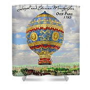 Over Paris 1783 Shower Curtain