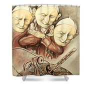 Over-pope-ulation - Cartoon Art Shower Curtain