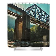 Over Rails Shower Curtain