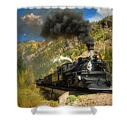 Over The Animas River Shower Curtain