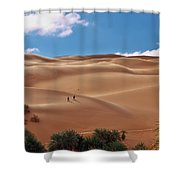 Over The Dunes Shower Curtain