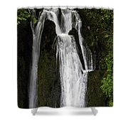 Over The Edge Two Shower Curtain