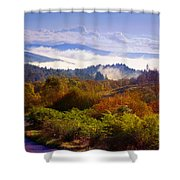 Over The Fog. Trossachs National Park. Scotland Shower Curtain by Jenny Rainbow