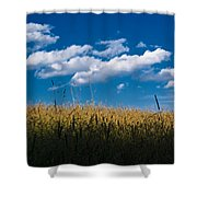 Over The Grass Shower Curtain