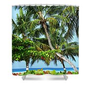 Over The Hedges Shower Curtain