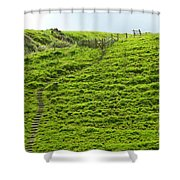 Over The Hill To Far Away Shower Curtain