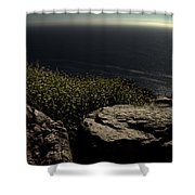 Over The Hills And Far Away Shower Curtain by Ed Smith