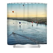 Over The Hudson Shower Curtain