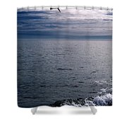 Over The Ocean Shower Curtain