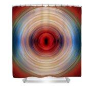 Over The Rainbow Spin Art 10 Shower Curtain