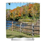 Over The River And Into The Through The Woods  Shower Curtain