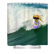 Over The Top Shower Curtain by Laura Fasulo