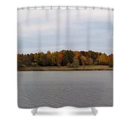 Over View Of Some Fall Colors For The Lake Shower Curtain
