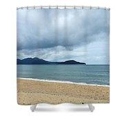 Overcast Beach Shower Curtain
