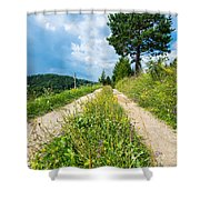Overgrown Rural Path Up A Hill Shower Curtain