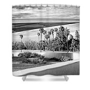 Overhang Bw Palm Springs Shower Curtain by William Dey