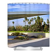 Overhang Palm Springs Tram Station Shower Curtain