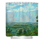 Overlook Near Peaks Of Otter Shower Curtain