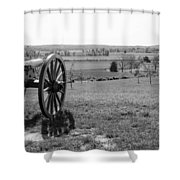 Overlooking Bilgerville Road Farm   Shower Curtain