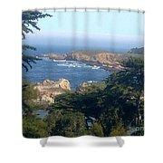 Overlooking Carmel Beach Shower Curtain