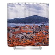 Overlooking Dubrovnik Shower Curtain