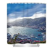 Overlooking The Bay Shower Curtain