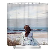 Overlooking The Sea Shower Curtain
