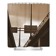 Overpass In Sepia Shower Curtain