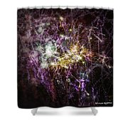 Overprinted Fireworks Shower Curtain
