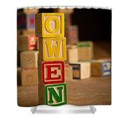 Owen - Alphabet Blocks Shower Curtain