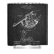 Owen Revolver Patent Drawing From 1899- Dark Shower Curtain