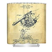 Owen Revolver Patent Drawing From 1899- Vintage Shower Curtain