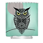 Owl 5 Shower Curtain