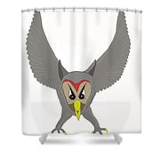 Owl Attacking Shower Curtain