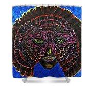 Owl Mask Self Portrait Shower Curtain