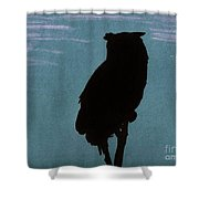 Owl Silhouette Shower Curtain