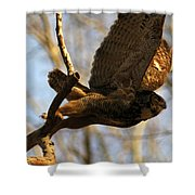 Owl Take Off Shower Curtain