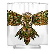Owl Yellow Shower Curtain